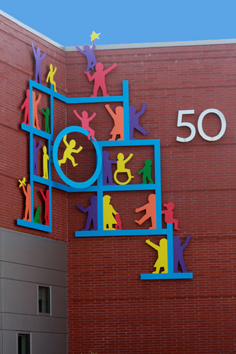 Wall Sculpture at Baystate Children's Hospital