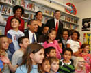 Obamas' visit Capital City Public Charter School